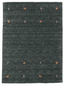 Gabbeh Loom Two Lines - Dark Grey/Green Rug 140X200 Modern Black/Dark Grey/Dark Green (Wool, India)
