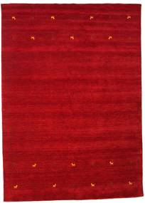 Gabbeh Loom Two Lines - Red Rug 240X340 Modern Crimson Red/Dark Red (Wool, India)