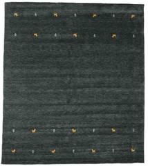 Gabbeh Loom Two Lines - Dark Grey/Green Rug 240X290 Modern Black (Wool, India)