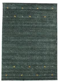 Gabbeh Loom Two Lines - Dark Grey/Green Rug 240X340 Modern Dark Green/Black (Wool, India)