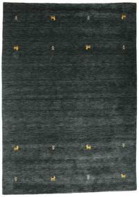 Gabbeh Loom Two Lines - Dark Grey/Green Rug 160X230 Modern Black (Wool, India)