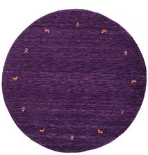 Gabbeh Loom Two Lines - Purple Rug Ø 150 Modern Round Dark Purple (Wool, India)