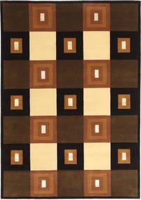 Himalaya Rug 140X203 Authentic  Modern Handknotted Dark Brown/Brown (Wool, India)