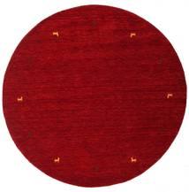 Gabbeh Loom Two Lines - Red Rug Ø 200 Modern Round Dark Red/Crimson Red (Wool, India)
