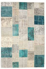 Patchwork Rug 200X302 Authentic  Modern Handknotted Light Grey/Turquoise Blue (Wool, Turkey)