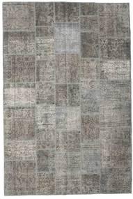Patchwork Rug 201X301 Authentic  Modern Handknotted Light Grey/Dark Grey (Wool, Turkey)