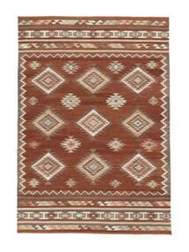 Kilim Malatya Rug 160X230 Authentic  Modern Handwoven Crimson Red/Light Brown (Wool, India)