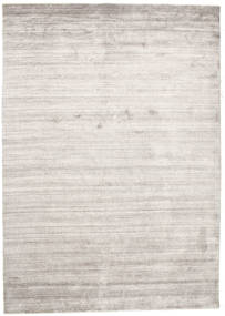 Bamboo Silk Loom - Warm Grey Rug 160X230 Modern Light Grey/White/Creme ( India)