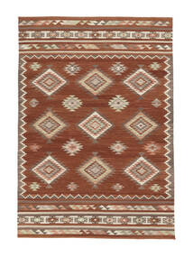 Kilim Malatya Rug 190X290 Authentic  Modern Handwoven Dark Red/Crimson Red (Wool, India)