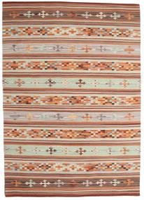 Kilim Anatolian Rug 140X200 Authentic  Modern Handwoven Dark Red/Light Grey (Wool, India)