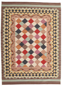 Kilim Caspian Rug 140X200 Authentic  Modern Handwoven Light Brown/Beige (Wool, India)