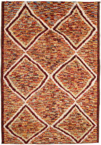 Barchi/Moroccan Berber Rug 197X292 Authentic  Modern Handknotted Dark Red/Crimson Red (Wool, Afghanistan)