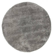 Shaggy Sadeh - Grey Rug Ø 200 Modern Round Dark Grey/Light Grey ( Turkey)