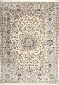 Nain 6La Habibian Rug 242X348 Authentic  Oriental Handknotted Light Grey/Beige (Wool/Silk, Persia/Iran)