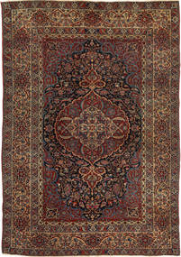 Isfahan Antique Rug 147X215 Authentic  Oriental Handknotted Dark Red/Dark Brown (Wool, Persia/Iran)