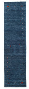 Gabbeh Loom Frame - Dark Blue Rug 80X300 Modern Hallway Runner  Dark Blue (Wool, India)
