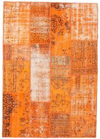 Patchwork Rug 142X203 Authentic  Modern Handknotted Orange/Light Brown (Wool, Turkey)