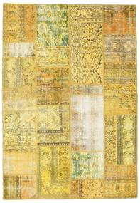 Patchwork Rug 162X235 Authentic  Modern Handknotted Yellow/Olive Green (Wool, Turkey)