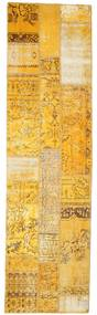 Patchwork Rug 81X299 Authentic  Modern Handknotted Hallway Runner  Light Brown/Yellow (Wool, Turkey)