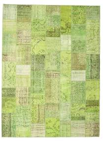 Patchwork Rug 273X368 Authentic  Modern Handknotted Light Green Large (Wool, Turkey)