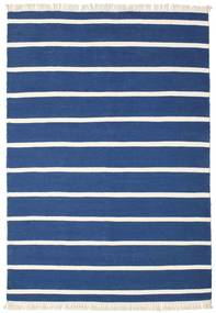Dhurrie Stripe - Dark Blue Rug 160X230 Authentic  Modern Handwoven Dark Blue/Blue (Wool, India)