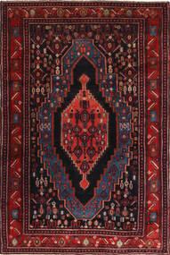 Senneh Rug 120X190 Authentic  Oriental Handknotted Dark Red (Wool, Persia/Iran)