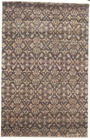 Damask Rug 170X263 Authentic  Modern Handknotted Light Grey/Light Brown ( India)