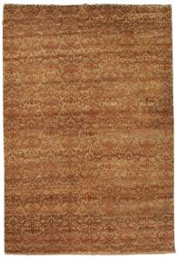 Damask Rug 183X270 Authentic  Modern Handknotted Brown/Light Brown ( India)