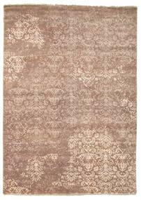 Damask Rug 175X245 Authentic  Modern Handknotted Brown/Light Brown ( India)