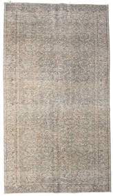 Colored Vintage Rug 163X294 Authentic  Modern Handknotted Light Grey (Wool, Turkey)