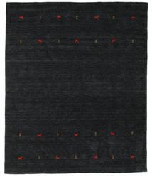 Gabbeh Loom Two Lines - Black/Grey Rug 240X290 Modern Black (Wool, India)
