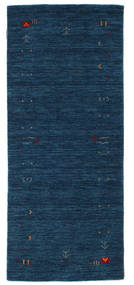 Gabbeh Loom Frame - Dark Blue Rug 80X200 Modern Hallway Runner  Dark Blue (Wool, India)