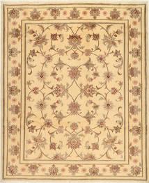Yazd Rug 200X245 Authentic  Oriental Handknotted Light Brown/Dark Beige (Wool, Persia/Iran)