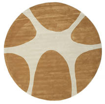 Stones Handtufted - Brown Rug Ø 225 Modern Round Dark Beige/Beige/Brown (Wool, India)