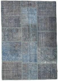 Patchwork Rug 141X200 Authentic  Modern Handknotted Dark Grey/Blue/Light Blue (Wool, Turkey)