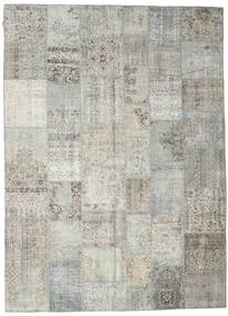 Patchwork Rug 268X370 Authentic  Modern Handknotted Light Grey/Dark Beige Large (Wool, Turkey)