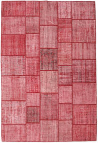 Patchwork Rug 205X305 Authentic  Modern Handknotted Pink/Rust Red (Wool, Turkey)