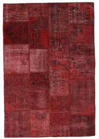 Patchwork Rug 137X203 Authentic  Modern Handknotted Dark Red (Wool, Turkey)