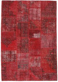 Patchwork Rug 140X200 Authentic  Modern Handknotted Dark Red/Crimson Red (Wool, Turkey)