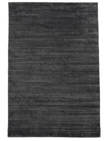 Bamboo Silk Loom - Charcoal Rug 200X300 Modern Black/Purple/Dark Grey ( India)