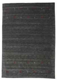 Gabbeh Loom Two Lines - Medium Grey Rug 190X290 Modern Black/Beige (Wool, India)