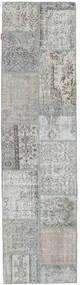 Patchwork Rug 79X301 Authentic  Modern Handknotted Hallway Runner  Light Grey (Wool, Turkey)