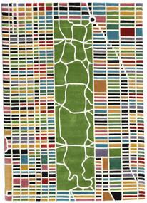 New-York/Manhattan Handtufted - Multi Rug 160X230 Modern Beige/Dark Green (Wool, India)
