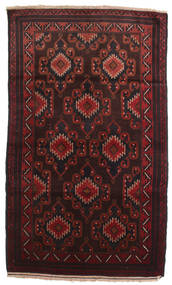 Baluch Rug 102X190 Authentic  Oriental Handknotted Dark Brown/Dark Red (Wool, Afghanistan)
