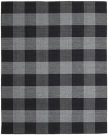 Check Kilim Rug 240X300 Authentic  Modern Handwoven Dark Grey/Dark Blue (Wool, India)