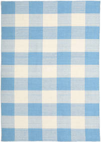 Check Kilim Rug 160X230 Authentic  Modern Handwoven Light Blue/Beige (Wool, India)