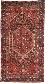 Hamadan Rug 140X266 Authentic  Oriental Handknotted Dark Red/Dark Brown (Wool, Persia/Iran)