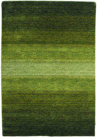 Gabbeh Rainbow - Green Rug 140X200 Modern Dark Green/Olive Green (Wool, India)