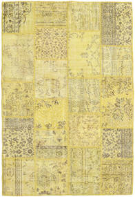 Patchwork Rug 160X235 Authentic  Modern Handknotted Yellow/Light Green (Wool, Turkey)