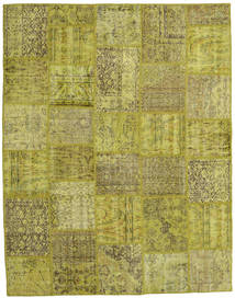 Patchwork Rug 197X254 Authentic  Modern Handknotted Olive Green (Wool, Turkey)